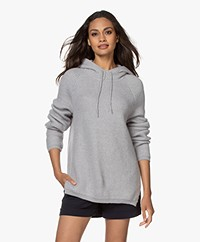 Sibin/Linnebjerg Suri Mohair Mix Hooded Sweater - Light Grey