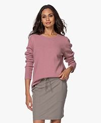 Sibin/Linnebjerg Forrest Merino Blend Knitted Sweater - Dusty Rose