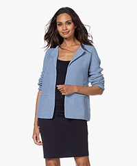 Sibin/Linnebjerg Lulu Short Cardigan - Light Denim Blue