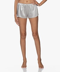 By Dariia Day Mulberry Silk Shorts - Silver Grey