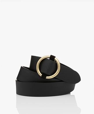 ba&sh Cassius Leather Waist Belt - Black