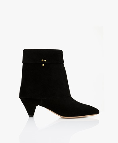 Jerome Dreyfuss Sandie50 Suede Ankle Boots - Black