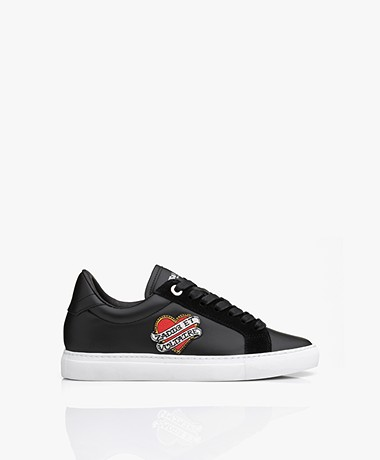 Zadig & Voltaire ZV1747 Smooth Leather Sneakers - Black