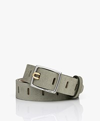 Rag & Bone Sidekick Suede Belt - Sage