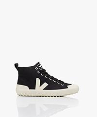 VEJA Nova Organic Cotton High-top Sneakers - Black Pierre