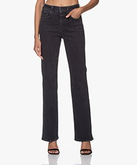 Closed Leaf Duurzame Flared Stretch Jeans - Donkergrijs