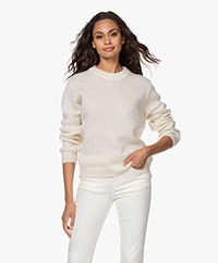 by-bar Lana Alpaca Blend Round Neck Sweater - Off-white