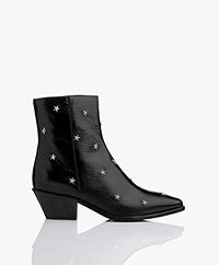 Zadig & Voltaire Tyler Vintage Studded Leather Ankle Boots - Black