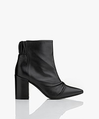 Zadig & Voltaire Glimmer Leather Ankle Boots - Black