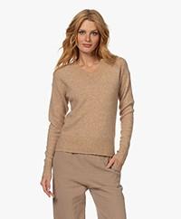 Josephine & Co Teddy Wool Blend V-neck Sweater - Khaki