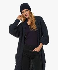Filippa K Reese Wool-Yak Blend Hat - Navy
