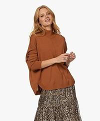 Repeat Oversized Merino Woolen Sweater - Leather