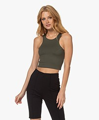 NORBA Original Cropped Sports Top - Army Green