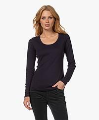 Closed Jersey Longsleeve T-shirt - Dark Night