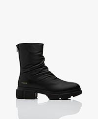 Copenhagen Studios Nappa Leren Aangerimpelde Boots - Zwart