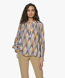 Closed Rosi Zijdenmix Printblouse - Multi Color