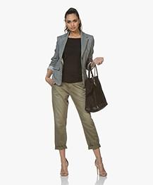 Vanessa Bruno Cabas Moyen Leren Shopper - Zwart