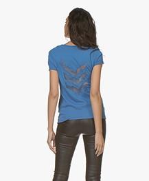 Zadig & Voltaire Story Fishnet T-shirt - Bleu Marguerite
