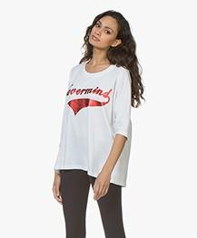 Zadig & Voltaire Portland Nevermind Print T-shirt - Wit