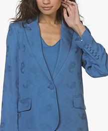 Zadig & Voltaire Victor Paisley Jacquard Blazer - Bleu Marguerite