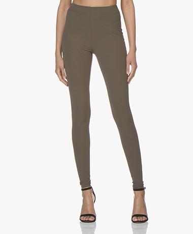 JapanTKY Haya Slim-fit Jersey Leggings - Khaki