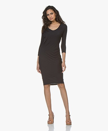 Majestic Filatures Pleated Jersey Dress - Marine