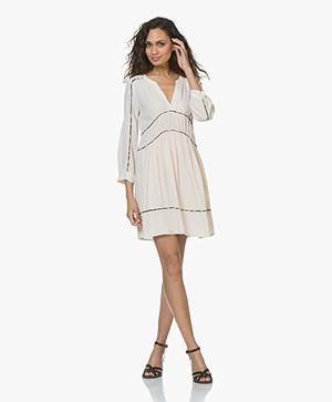 ba&sh Franny Crepe Dress - Poudre