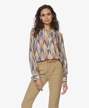 Closed Rosi Printed Silk Blend Blouse - Multi Color