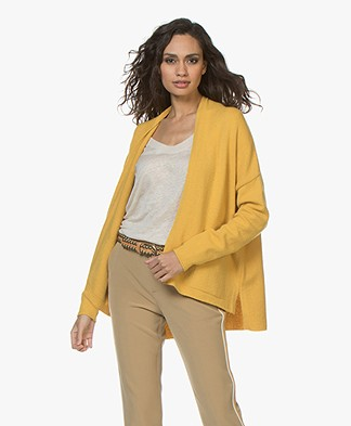 Sibin/Linnebjerg Zeta Wool Blend Open Cardigan - Yellow