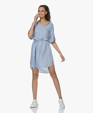 Josephine & Co Carsten Striped Shirt Dress - Blue