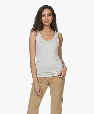 Majestic Filatures Alice Soft Touch Jersey Tank Top - Greige