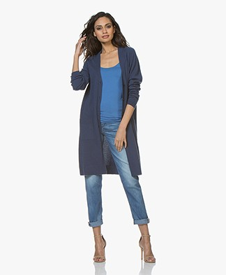 Repeat Half Long Cardigan from Pure Cashmere - Dark Blue