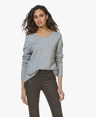 Sibin/Linnebjerg Melfi Sweater with Cashmere - Sweat grey