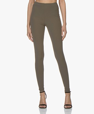 JapanTKY Haya Slim-fit Jersey Leggings - Khaki