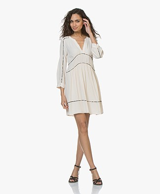 ba&sh Franny Crepe Dress - Poudre