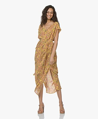 Vanessa Bruno Icreme Viscose-crepe Printed Dress - Noisette