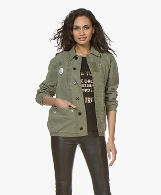 Zadig & Voltaire Kid Military Jacket - Khaki