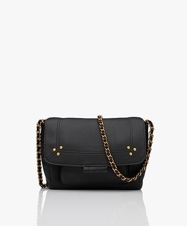 Jerome Dreyfuss Lulu S Leather Shoulder/Cross-body Bag - Black/Brass