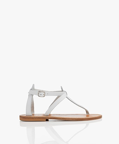 K. Jacques St. Tropez Buffon Leather Sandals - White