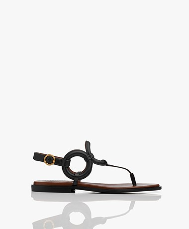 See By Chloé Kenya Leather Sandals - Black