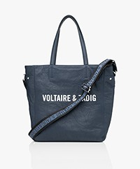 Zadig & Voltaire Dottie Voltaire Leather Shoulder Bag - Ink