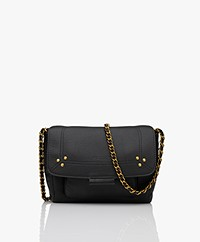 Jerome Dreyfuss Lulu S Leather Shoulder/Cross-body Bag - Black/Brass