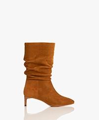 ba&sh Clarys Slouchy Suede Boots - Cognac