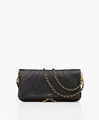 Zadig & Voltaire Rock Lamb Leather Shoulder Bag/Clutch - Black