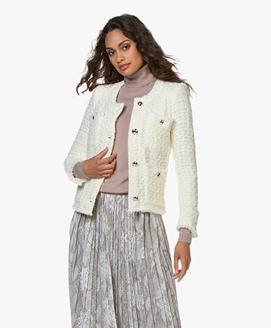 IRO Colley Boxy Wool Blend Blazer - Ecru