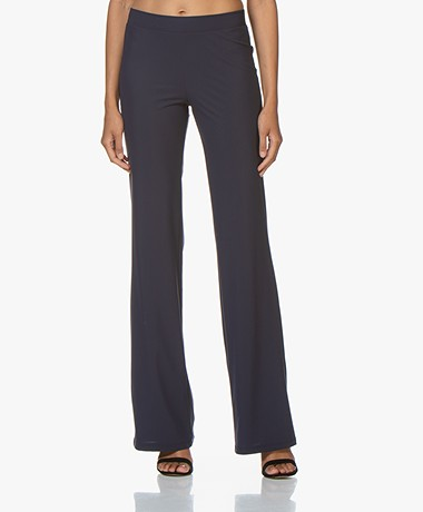 LaDress Siena Travel Jersey Flared Pants - Midnight Mist