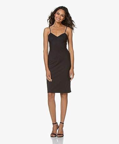 LaDress Mythical Travel Jersey Spaghetti Strap Dress - Black