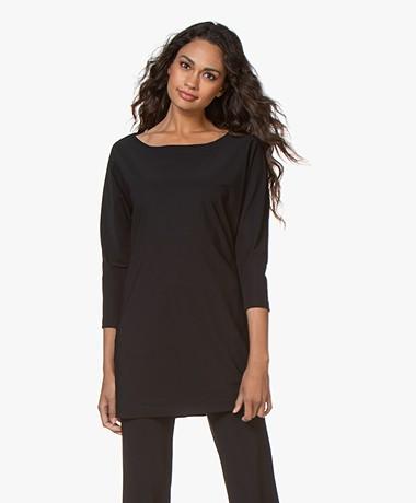 LaDress Reese Travel Jersey Lang Shirt - Zwart