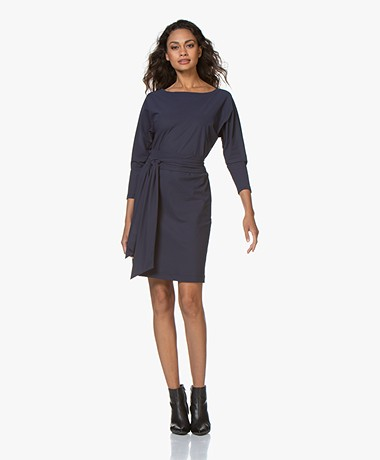 LaDress Carla Travel Jersey Tuniekjurk - Donkerblauw