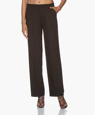 LaSalle Loose-fit Pants with Straight Legs - Black